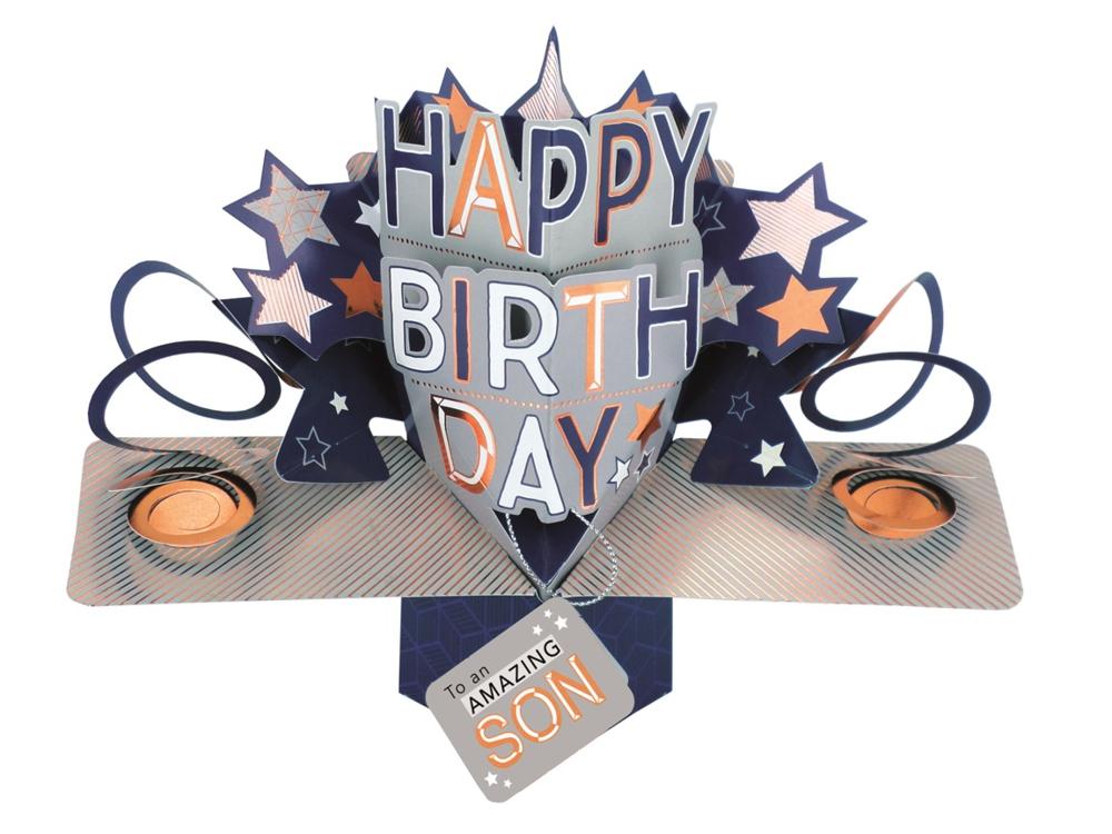 Amazing Son Happy Birthday Pop-Up Greeting Card