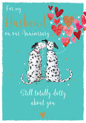 My Husband On Our Anniversary Dalmatians Greeting Card