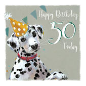 Dotty About You Dalmatian 50th Birthday Card