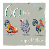 Pecking Order Hen's 60th Birthday Card