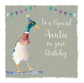 Auntie Have A Quacking Birthday Greeting Card