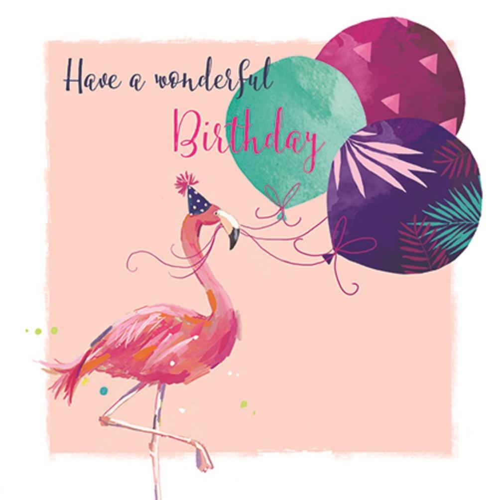 Flamingo Have A Wonderful Birthday Greeting Card