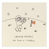 Birthday Astronaut Pencil Shavings Greeting Card