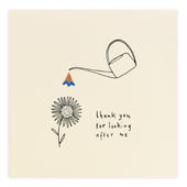 Thank You For Looking After Me Pencil Shavings Greeting Card