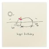 Hippo Birthday Pencil Shavings Greeting Card
