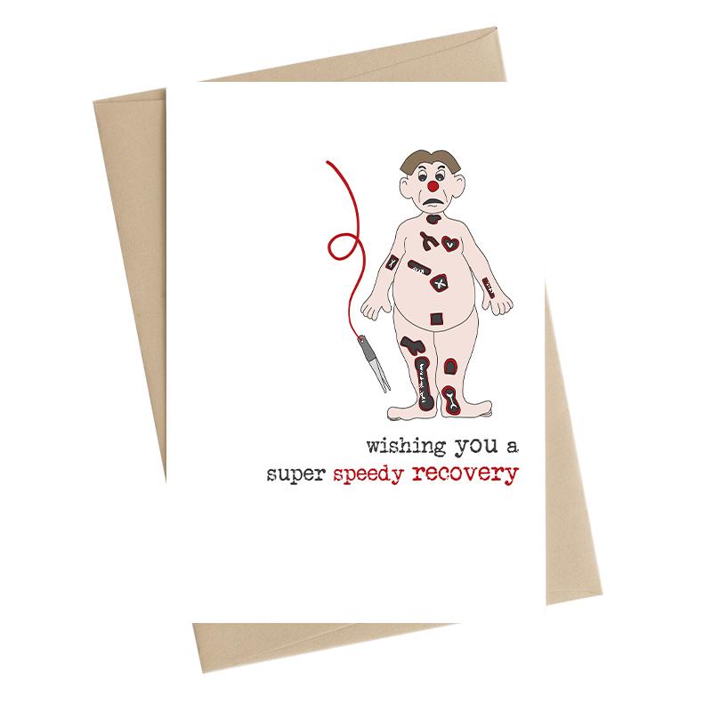 A Super Speedy Recovery Get Well Greeting Card by Dandelion Stationery Cards WW728 WW728