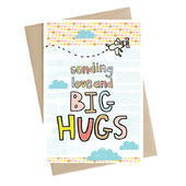 Sending Love And Big Hugs Greeting Card