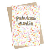 Fabulous Auntie Greeting Card