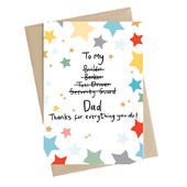 Thanks For Everything You Do! Dad Greeting Card