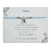 Sister Guardian Angel Bracelet On Beaded String With Envelope