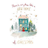 New Home At Christmas Greeting Card By The Curious Inksmith