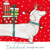 Pack of 6 Dachshund Charity Christmas Cards Supporting Multiple Charities