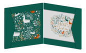 Box of 8 Winter Woodland Curious Inksmith Christmas Cards