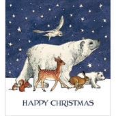 Pack of 5 Christmas Animals Christmas Cards