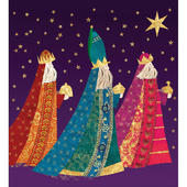 Pack of 5 We Three Kings Charity Christmas Cards