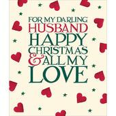 For My Darling Husband Emma Bridgewater Christmas Greeting Card