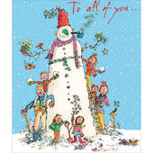 To All Of You...Snowman Quentin Blake Christmas Greeting Card