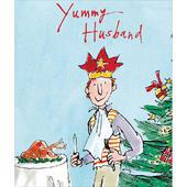 Yummy Husband Xmas Turkey Quentin Blake Christmas Greeting Card