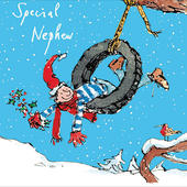 Special Nephew Quentin Blake Single Christmas Card