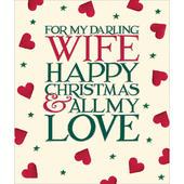 Darling Wife Emma Bridgewater Christmas Greeting Card