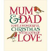 Mum & Dad Emma Bridgewater Christmas Greeting Card
