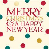 Merry Christmas & New Year Emma Bridgewater Christmas Greeting Card