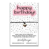 Happy Birthday Wish String Bracelet With Lucky Charm