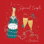 A Very Special Couple Christmas Tipple Foiled Christmas Card