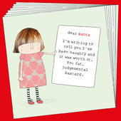 Box Of 8 Rosie Made A Thing Dear Santa Funny Christmas Cards