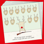 Box Of 8 Rosie Made A Thing Rudolph Funny Christmas Cards