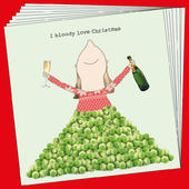 Box Of 8 Rosie Made A Thing Love Sprouts Funny Christmas Cards