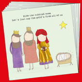 Box Of 8 Rosie Made A Thing Gold Xmas Funny Christmas Cards