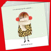 Box Of 8 Rosie Made A Thing White Bottle Funny Christmas Cards