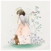 Pack of 6 Angel & Bunny Charity Christmas Cards