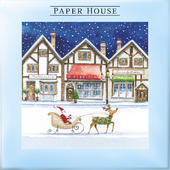 Box of 10 Paper House Christmas Snowy Streets Christmas Cards In 2 Designs
