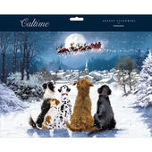 Dogs Watching Santa Traditional Caltime Christmas Advent Calendar
