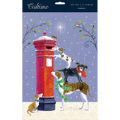 Dogs & Robin Xmas Post Traditional Caltime Christmas Advent Calendar