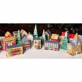 Winter Village 24 Piece Set Caltime Christmas Advent Calendar