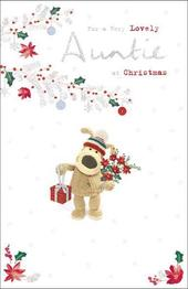 Boofle For A Very Lovely Auntie Christmas Greeting Card