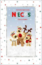 Boofle Extra-Special Nieces Glitter Christmas Greeting Card