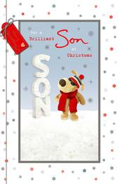 Boofle Brilliant Son At Christmas Greeting Card