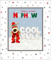 Boofle Really Great Nephew Cool Yule Christmas Greeting Card