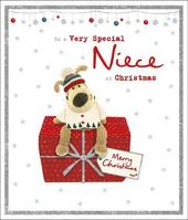 Boofle Very Special Niece Glitter Christmas Greeting Card