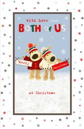 Boofle With Love From Both Of Us Christmas Greeting Card