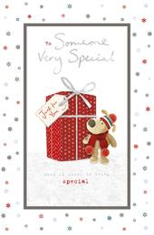 Boofle Someone Very Special Glitter Christmas Greeting Card