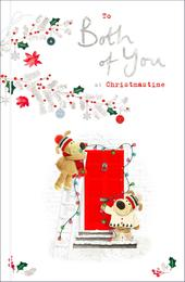 Boofle To Both of You Embellished Christmas Greeting Card
