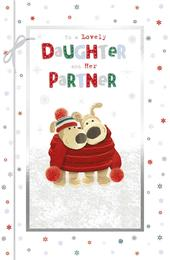 Boofle Daughter & Partner Embellished Christmas Greeting Card