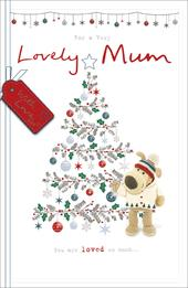 Boofle A Very Lovely Mum Embellished Christmas Greeting Card