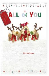 Boofle To All Of You Embellished Christmas Greeting Card