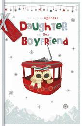 Boofle Daughter & Boyfriend Embellished Christmas Greeting Card